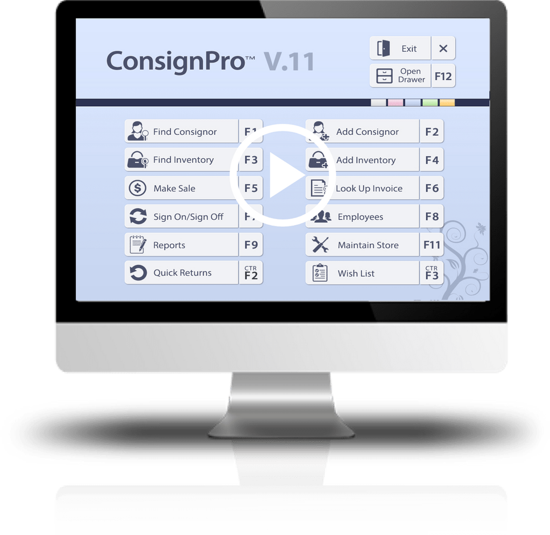 ConsignPro The Resale Industrys Favorite Consignment Software - Free mac invoice software online consignment store